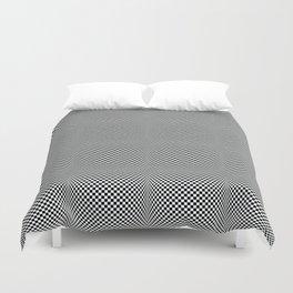 op art - black and white checks bulge Duvet Cover