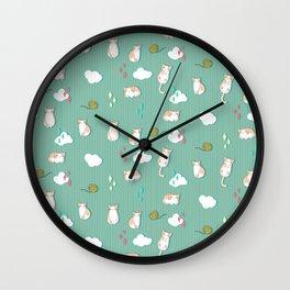 Chubby Kitty Pattern Wall Clock