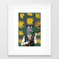 hunter Framed Art Prints featuring Hunter by Studio-Takeuma