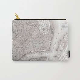Vintage New York City Map Carry-All Pouch