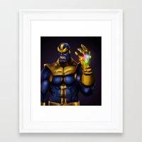 thanos Framed Art Prints featuring Thanos - Marvel Villain Series by Eric Vasquez