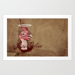 where are the chicken wings? Art Print