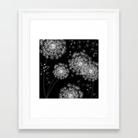 dandelion Framed Art Prints featuring DANDELIOn by Monika Strigel