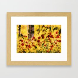 Poppy Field Framed Art Print