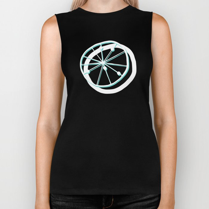 Atomic Lemonade_Cerulean and White Biker Tank
