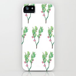 Blueberry Flowers iPhone Case