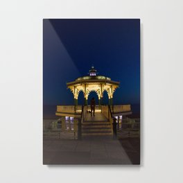 Brighton Bandstand at Night Metal Print