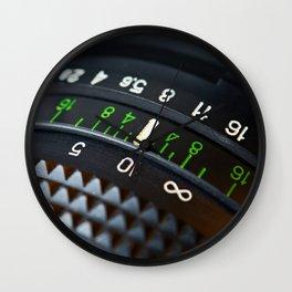 Retro photo camera lens Wall Clock