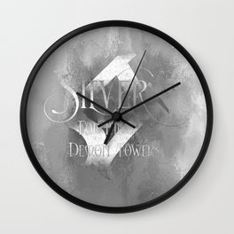 SILVER for the Demon Towers. Shadowhunter Children's Rhyme. Wall Clock