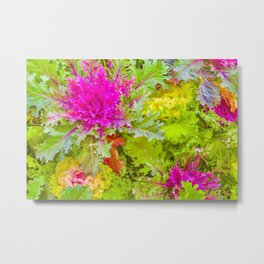 Colorful Nature Print Photo Metal Print