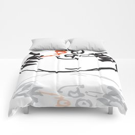 Cat with orange eye Comforters