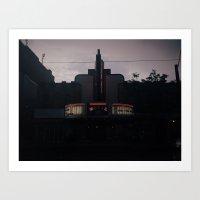 cinema Art Prints featuring cinema by Lucas Silva