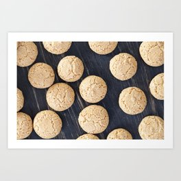 round small biscuits Art Print