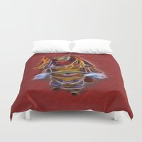 chinese Duvet Covers featuring Chinese Theatre by Lucia