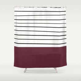 MARINERAS MAROON Shower Curtain