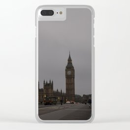Westminster Bridge at dawn Clear iPhone Case