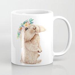 Pretty Floral Garland Bunny Coffee Mug