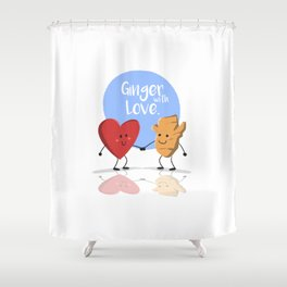 Ginger with Love Shower Curtain