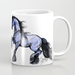 Friesian Mare Prancing Coffee Mug