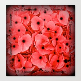 Veterans   Memorial Day   Remembrance Day   We Remember   Red Poppies   Nadia Bonello Canvas Print