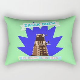 Doctor Who: Dalek Brew Vintage Beer Ad Rectangular Pillow