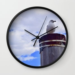 Seagull on Liberty Island Wall Clock