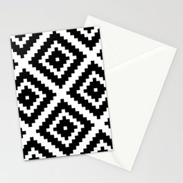 Aztec Diamond Geometric Pattern Stationery Cards