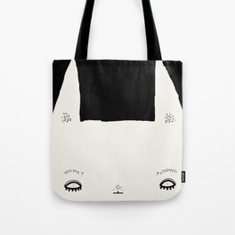 rabbit very determined Tote Bag