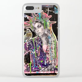 Rehab Amy Graffiti in New York City Clear iPhone Case