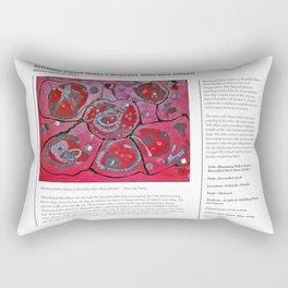 Blooming Pollen Makes A Beautiful Mars Rose Garden / Art Stories Rectangular Pillow