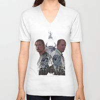 true detective V-neck T-shirts featuring True Detective by TidyDesigns