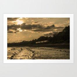 Sunset Pacer  Art Print