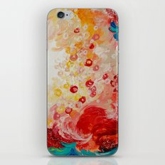 SUMMER DAYS Feminine Pretty Pink Red Peach Abstract Acrylic Painting Whismical Nature Color Splash iPhone & iPod Skin