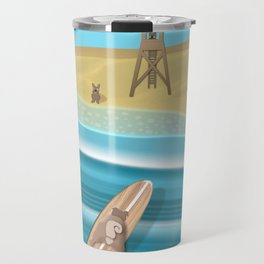 Team Pugs Surfing Travel Mug
