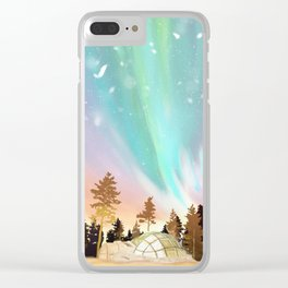 Pastel Northern Lights Clear iPhone Case