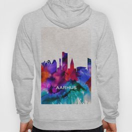 Aarhus Skyline Abstract Hoody