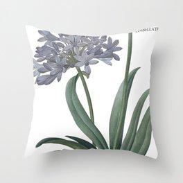 Victoria's Garden, feat. Agapanthus Umbellatus, Magazine Cover Throw Pillow