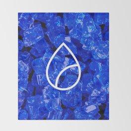 Lapis Lazuli Candy Gem Throw Blanket