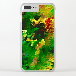 Emerald Forms Abstract Clear iPhone Case
