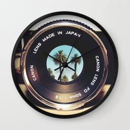 focus on palms Wall Clock