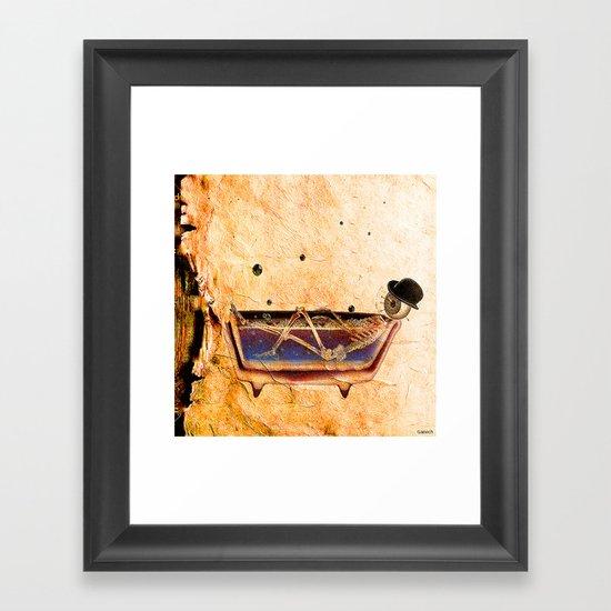 Monsieur Bone In The Bathroom Framed Art Print By Joe Ganech Society6