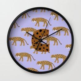 letter C, cheeta Wall Clock