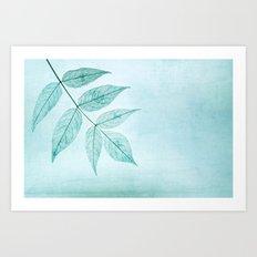blue leaf Art Print