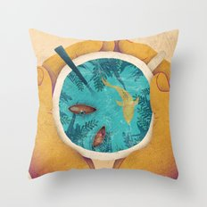Cup of paradise Throw Pillow