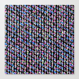 Crosshatch Brights Trend Fabric Pattern Canvas Print