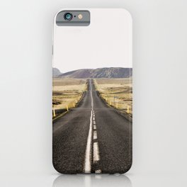 Lost Highway - Iceland Landscape, Travel Photography iPhone Case