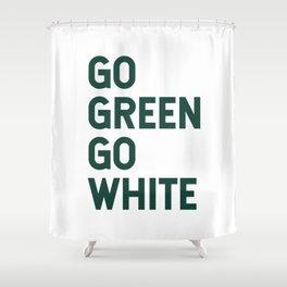 Go Green Go White Shower Curtain