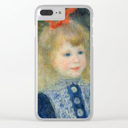 Girl with a Watering Can Clear iPhone Case