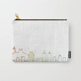 Barcelona skyline rainbow Carry-All Pouch