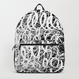 Black Spiral Swirls Reverse Backpack